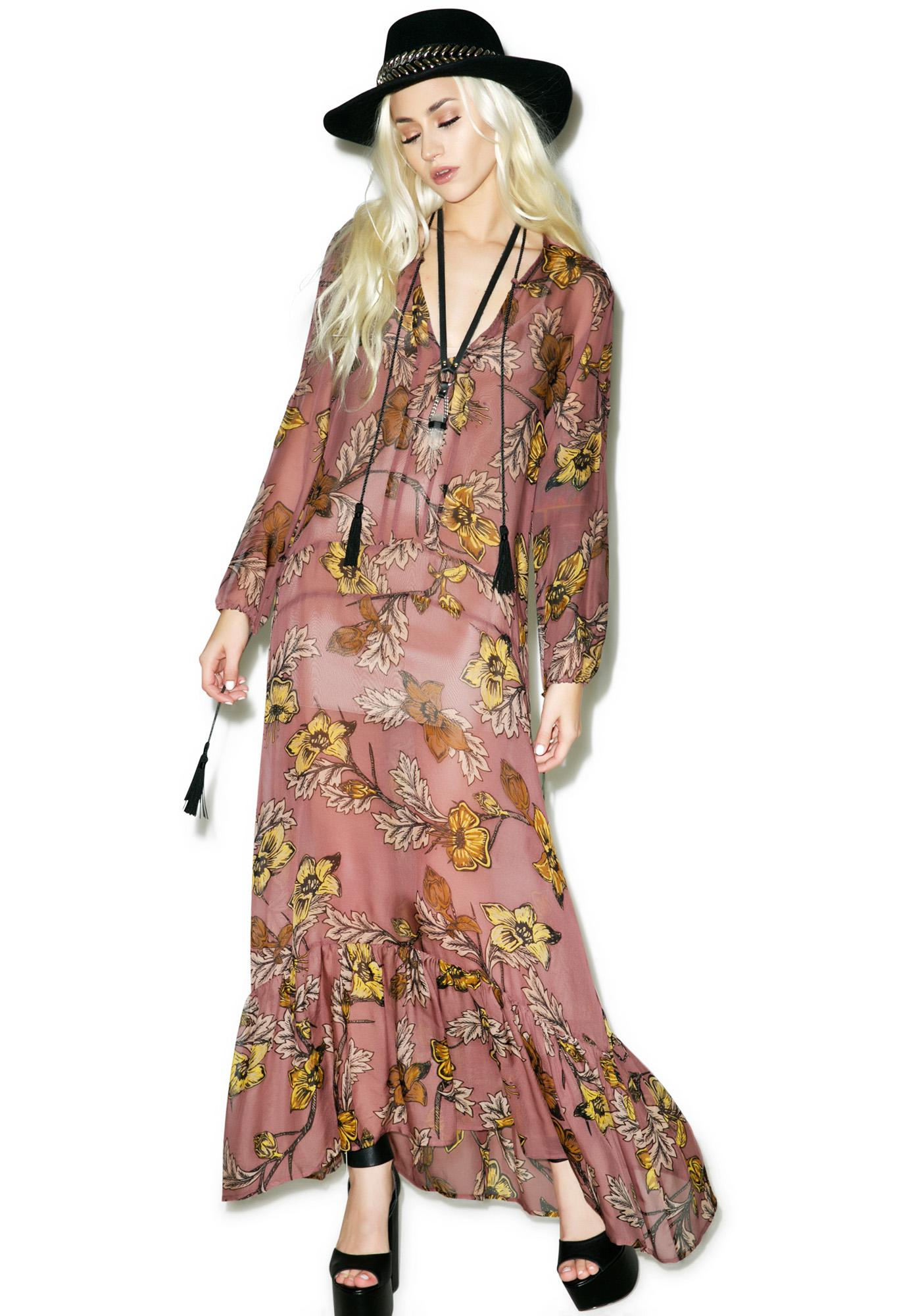 For Love & Lemons Santa Rosa Maxi Dress