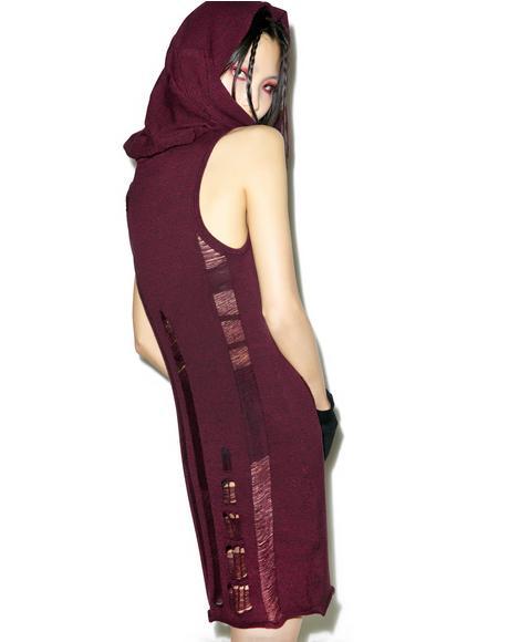 Propaganda Sleeveless Hooded Dress