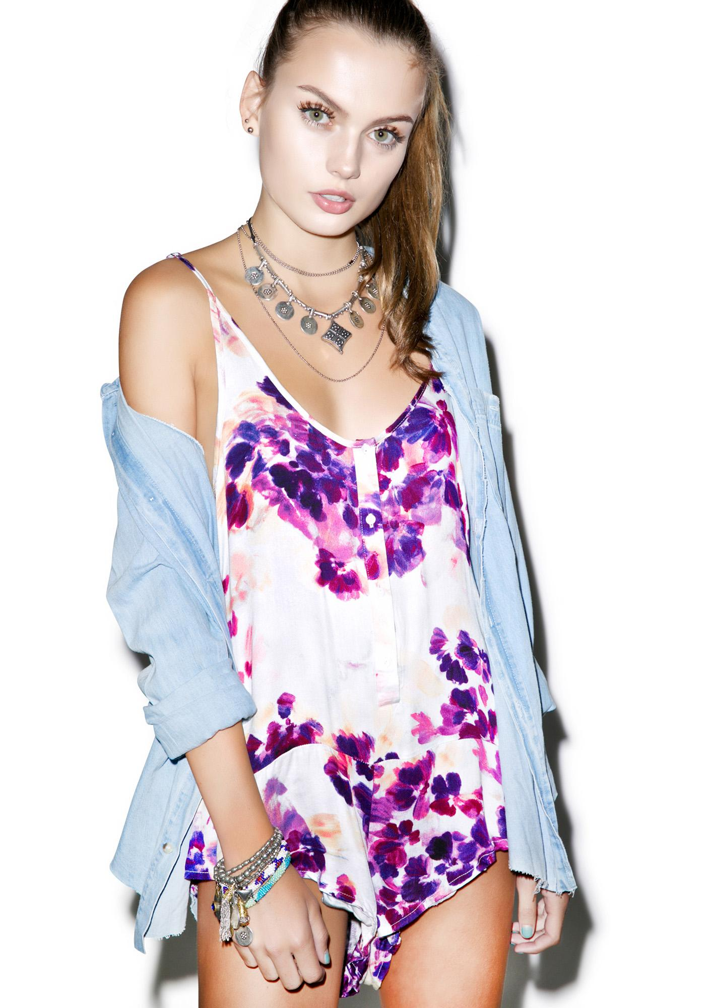 Somedays Lovin Lonely Floral Cami Body Suit