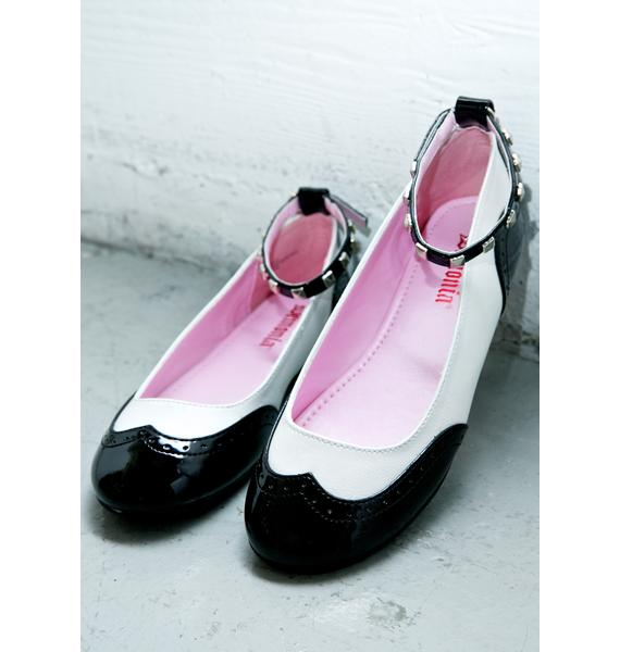 Demonia Betty Oxford Flats