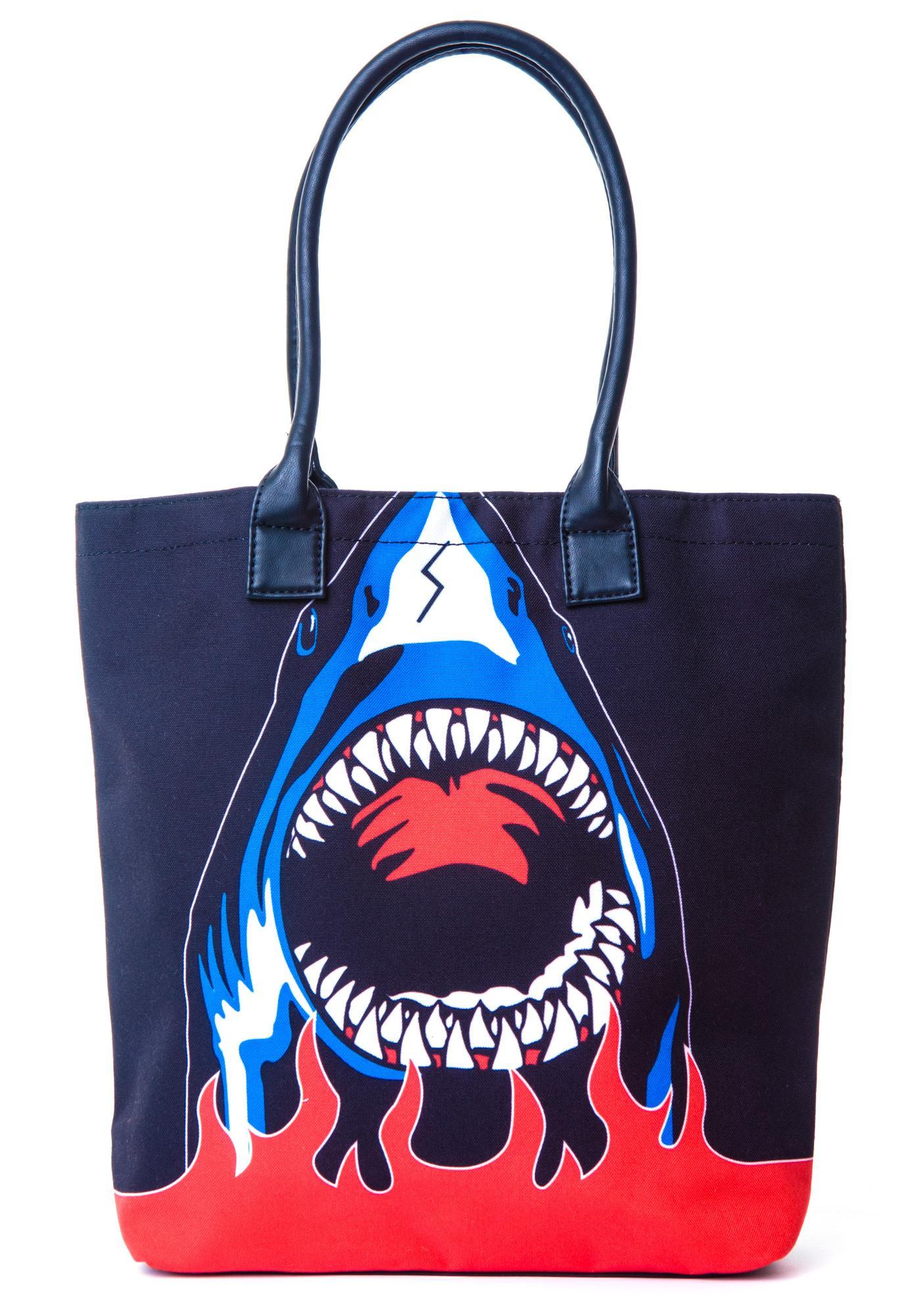 Halfman Romantics Shark Attack Tote Bag