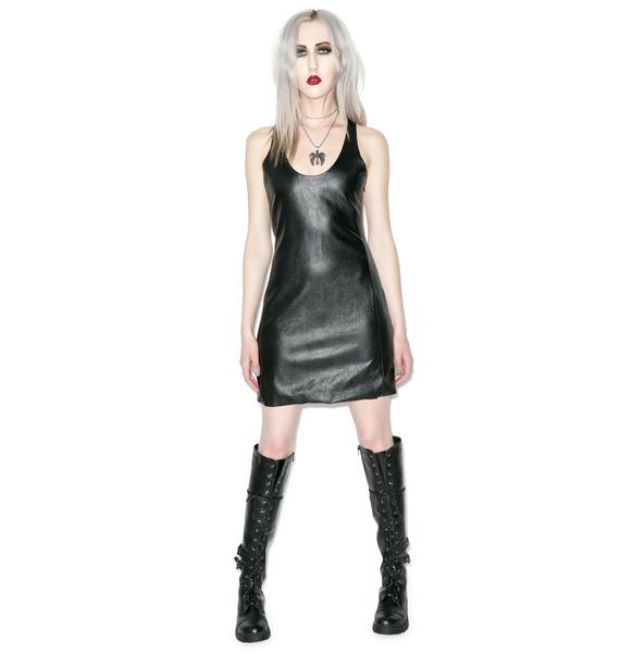Disturbia Wicca Vegan Leather Dress