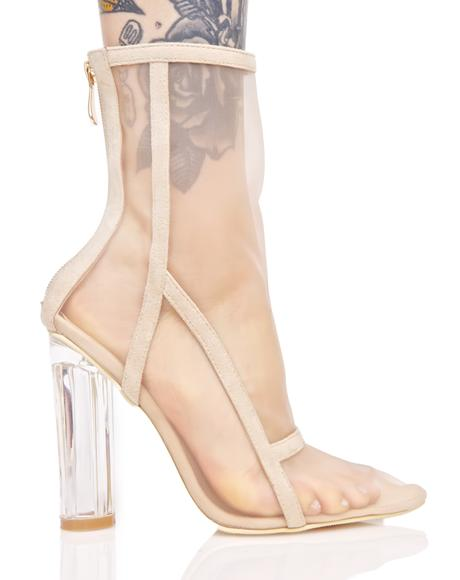 Nude Pallas Mesh Boots