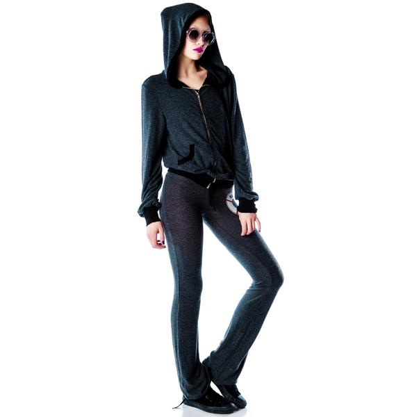 Wildfox Couture No Skinny Dipping Malibu Zip Up Hoodie