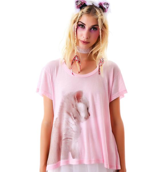 Wildfox Couture Cat Cafe Lazy Weekend Tee
