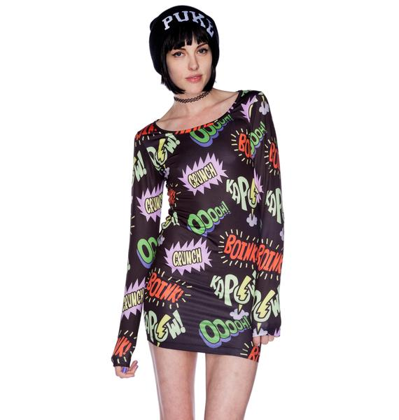 Lazy Oaf Kapow Bodycon Dress