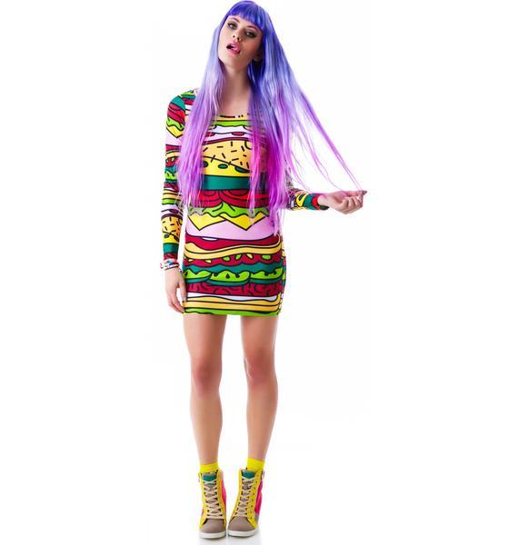 Lazy Oaf Baloney Bodycon Dress