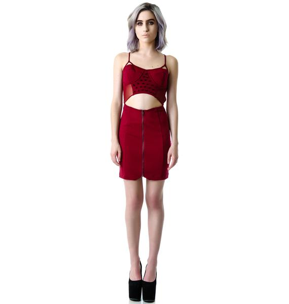 Maneater Studded Cutout Dress
