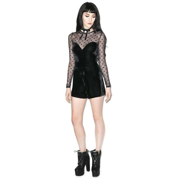 Like A Prayer Velvet Spot Playsuit