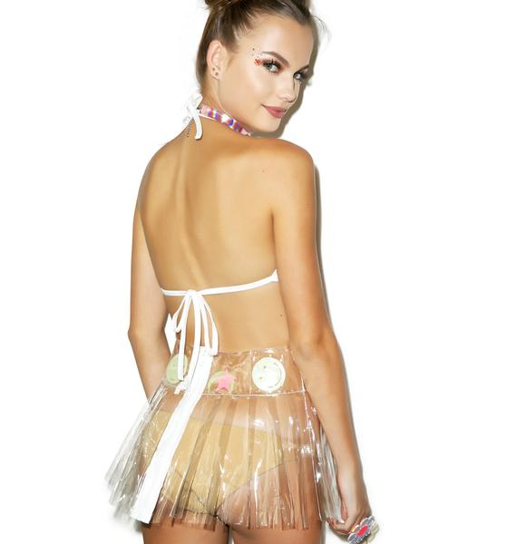 Indyanna Glowin' Spice Babe PVC Pleated Skirt