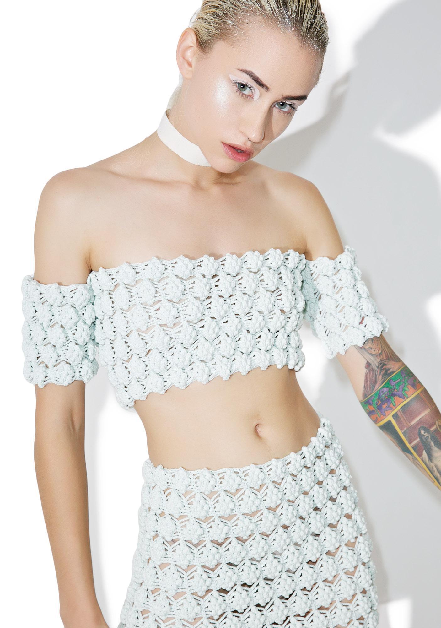 Maria ke Fisherman Gooseberry Crochet Crop Top