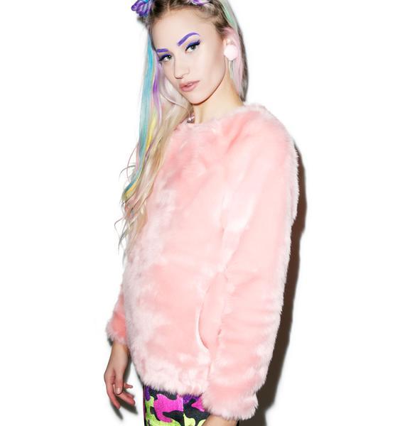 Joyrich Candy Fur Crewneck