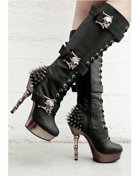 La Muerta Spiked Boots