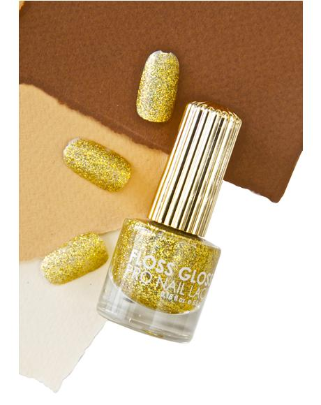 Stun Gold Holographic Nail Polish