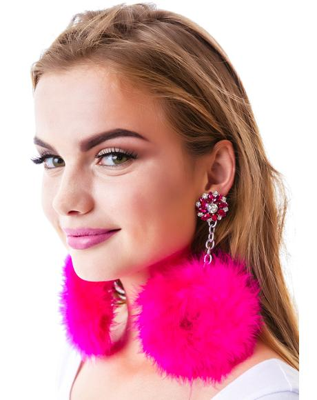 Satine Pom Pom Earrings