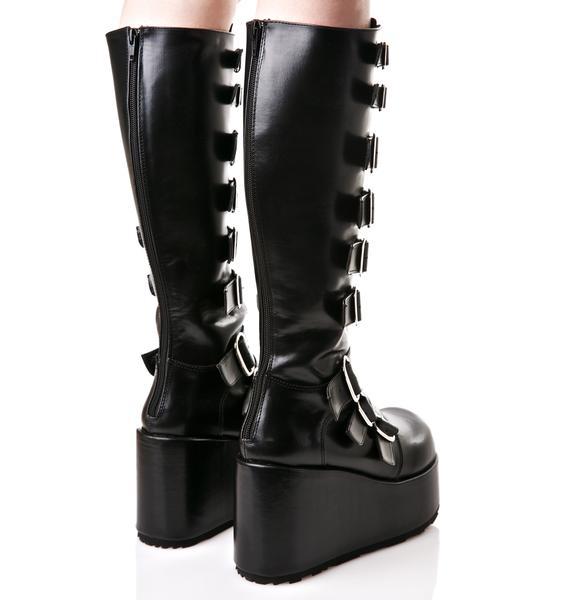 Demonia Concord Buckle Platform Boots