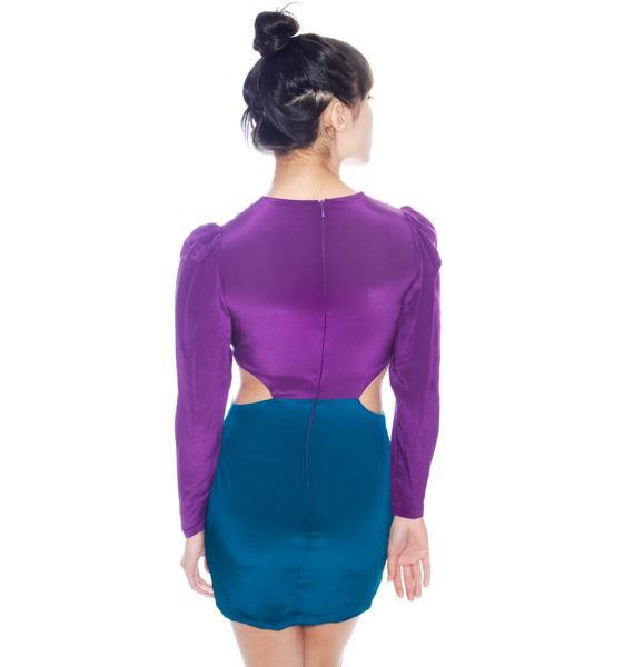 Long Sleeve Cut Out Dress