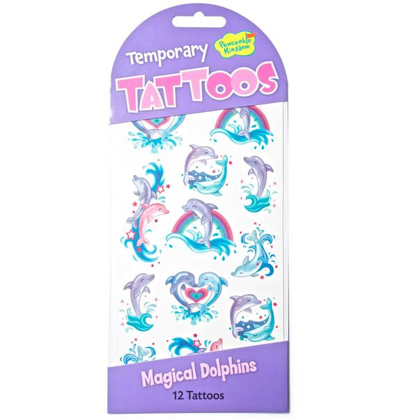 Magical Dolphins Temporary Tattoos