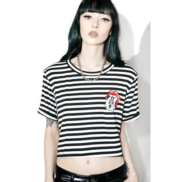 Rebel8 Sharp Tongue Stripe Tee