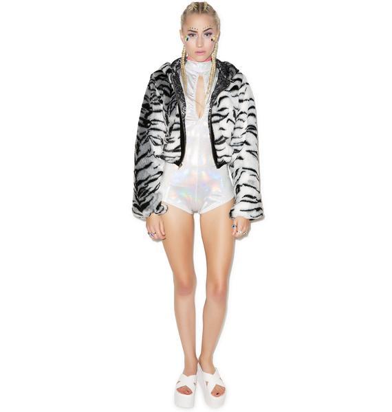 J Valentine White Tiger Jacket