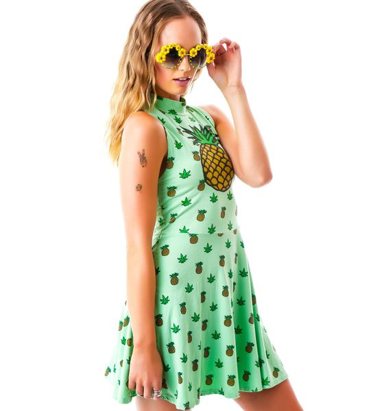 United Couture Pineapple Weed Sugar Doll Dress