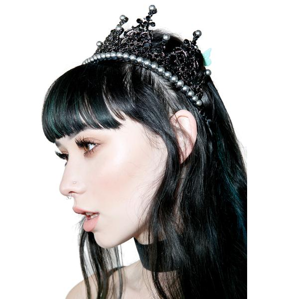 Regal Rose Black Pearl Crown