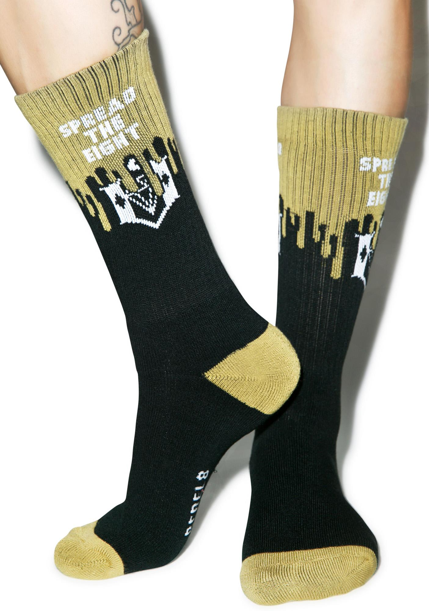 Rebel8 Cover The 8 Socks