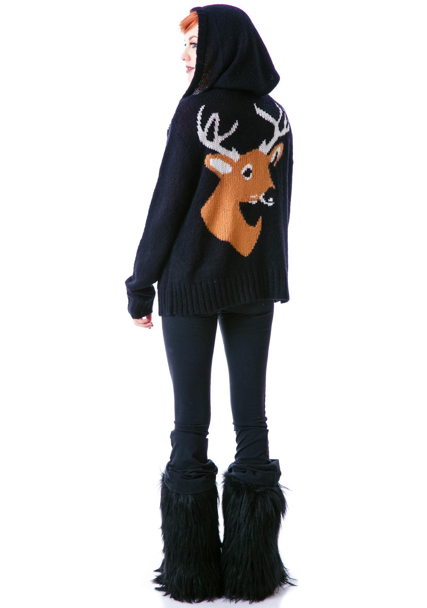Wildfox Couture Deer Head Cabin Hoodie