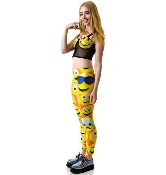 Why So Emoji Emoticon Leggings