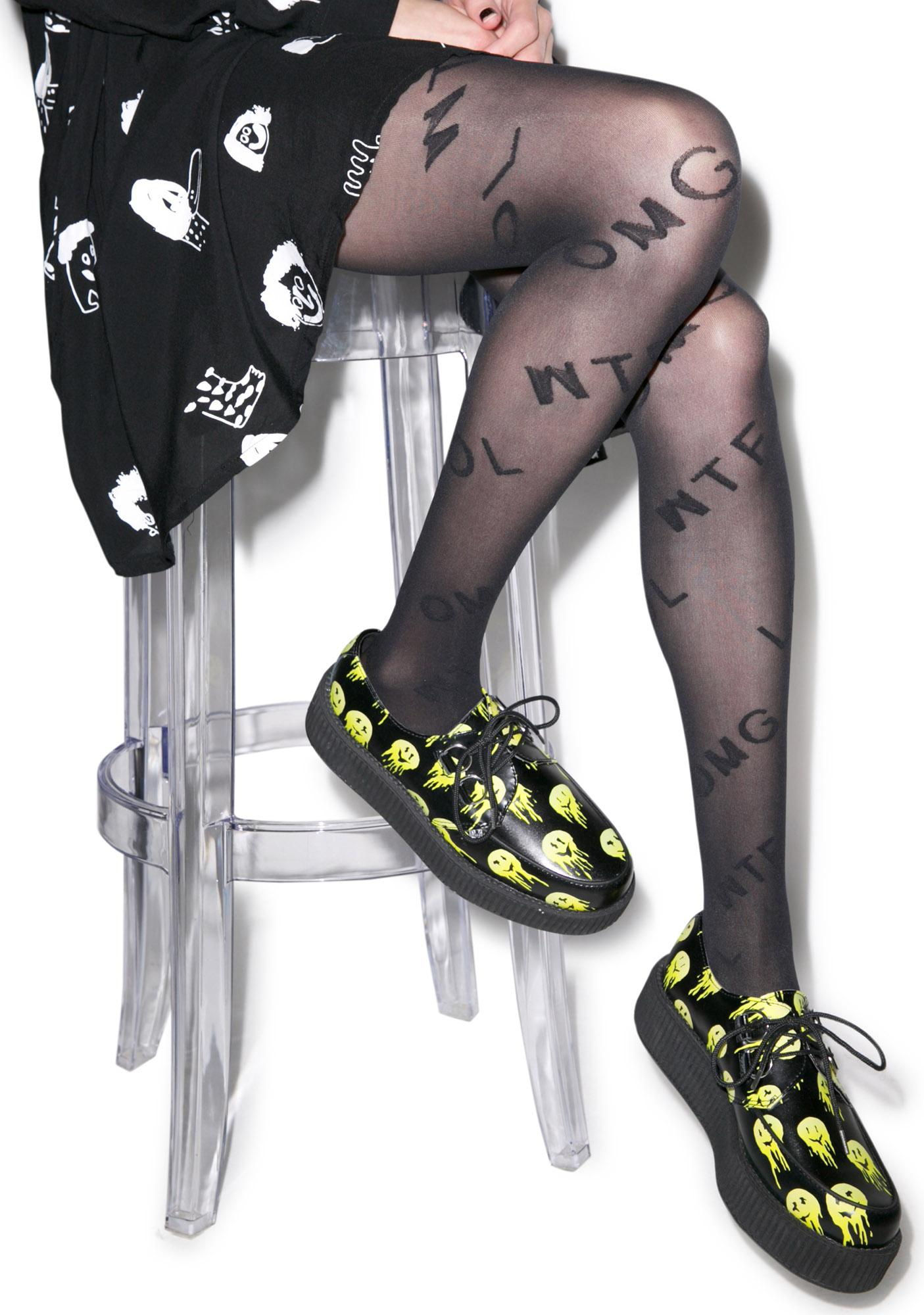 House of Holland Motif Word Tights