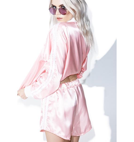 O Mighty Pynk Silk Kitten Shorts