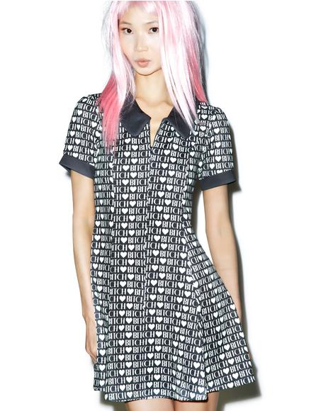 Bitch Heart Go-Go Party Dress