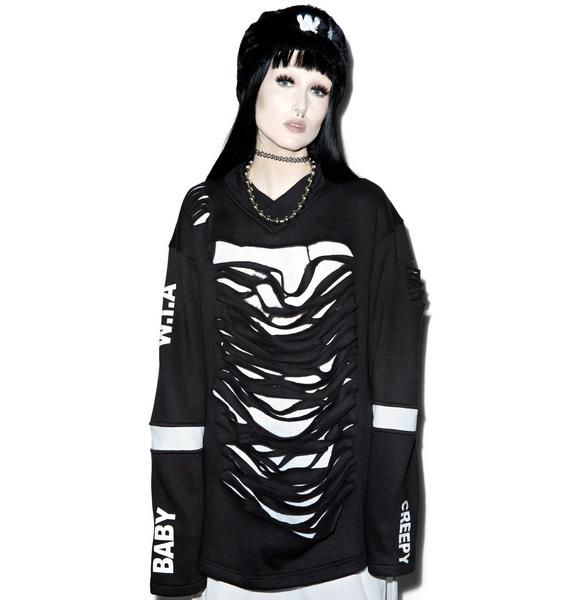 W.I.A X Dolls Kill Destroyed Sweater