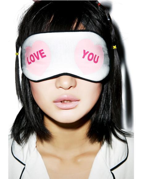 Love You Hearts Eye Mask