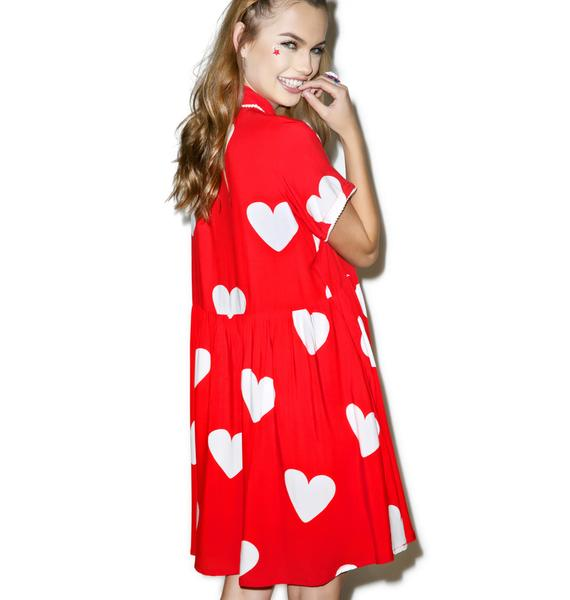 Lazy Oaf Red Heart Dress