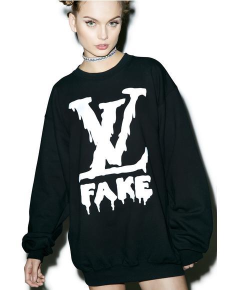 Fake LV Sweatshirt