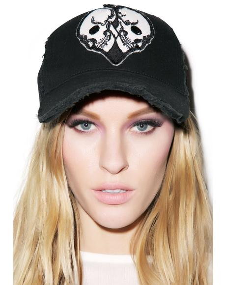 Jilly Skull Heart Patch Trucker Hat