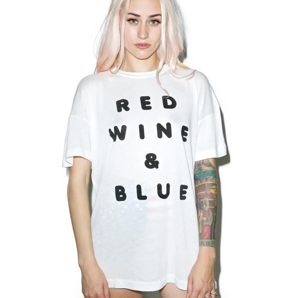 Wildfox Couture Red Wine And Blue Favorite Tee
