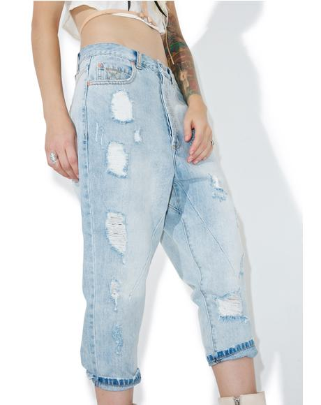 Low Rider Cropped Jeans
