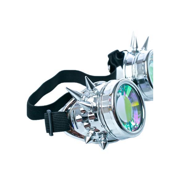 GloFx Chrome Spike Kaleidoscope Goggles