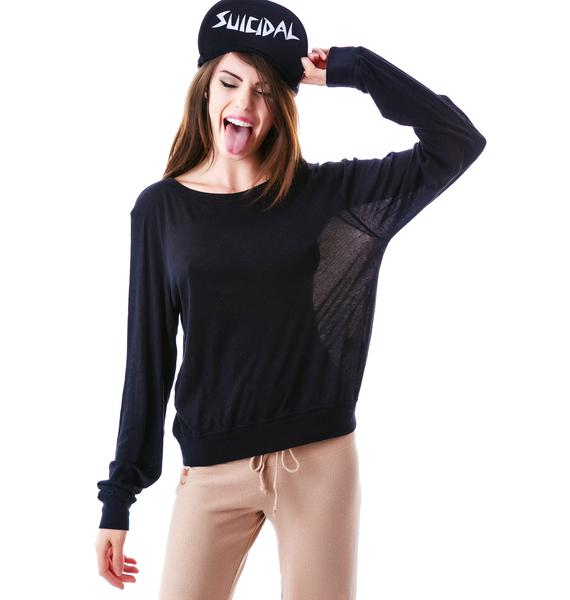 Wildfox Couture Essentials Baggy Beach Jumper