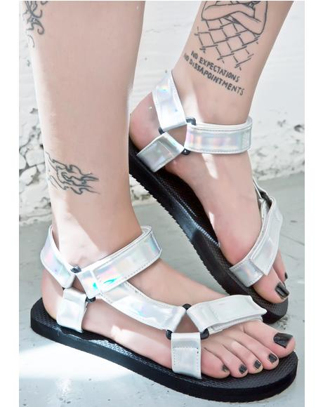 Hologram Velcro Sandals