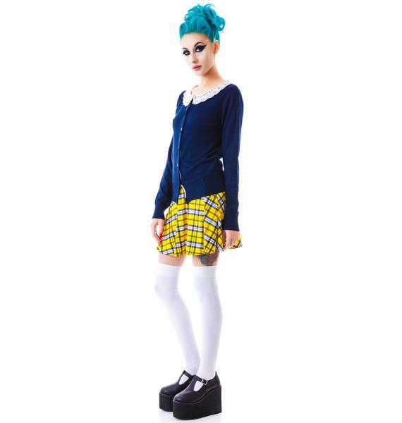 Fleetwood Crochet Collared Cardigan