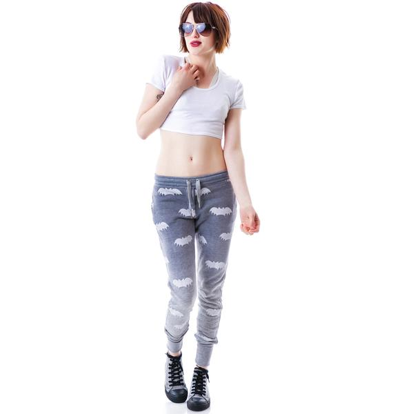 Zoe Karssen Bat All Over Loose Fit Dip Dye Sweatpants
