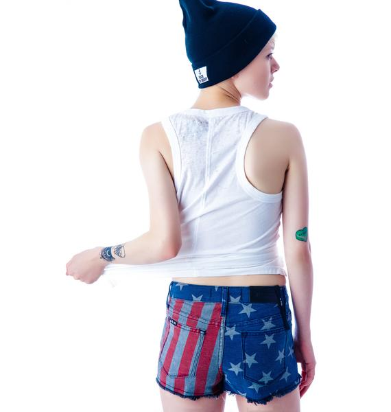 Kill City Stars and Stripes Hi Wire Shorts