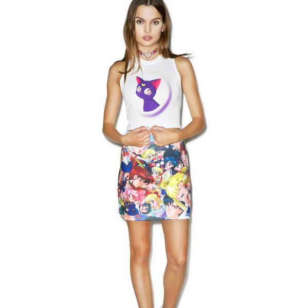 Mewn Kitty Cropped Tee