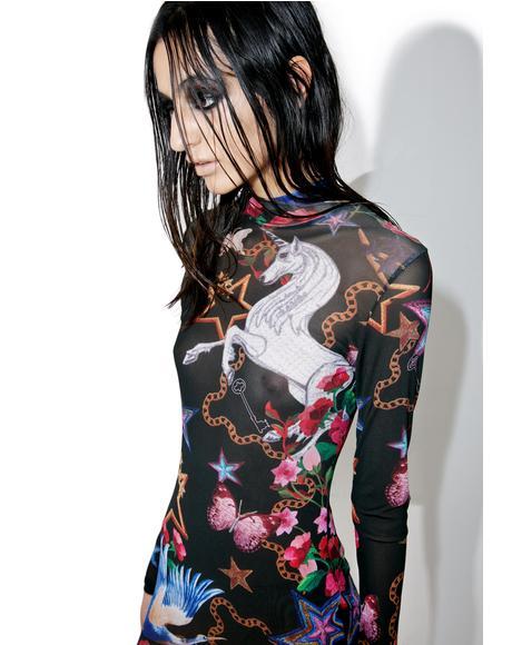 Fairytale Mesh Mini Dress