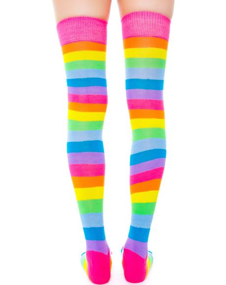 Starlite Rainbow Thigh Highs