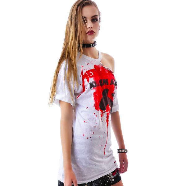 Hazmat Design Metallica Studded Tee