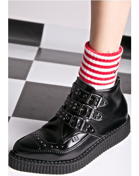 Triple Buckle Studded Creepers